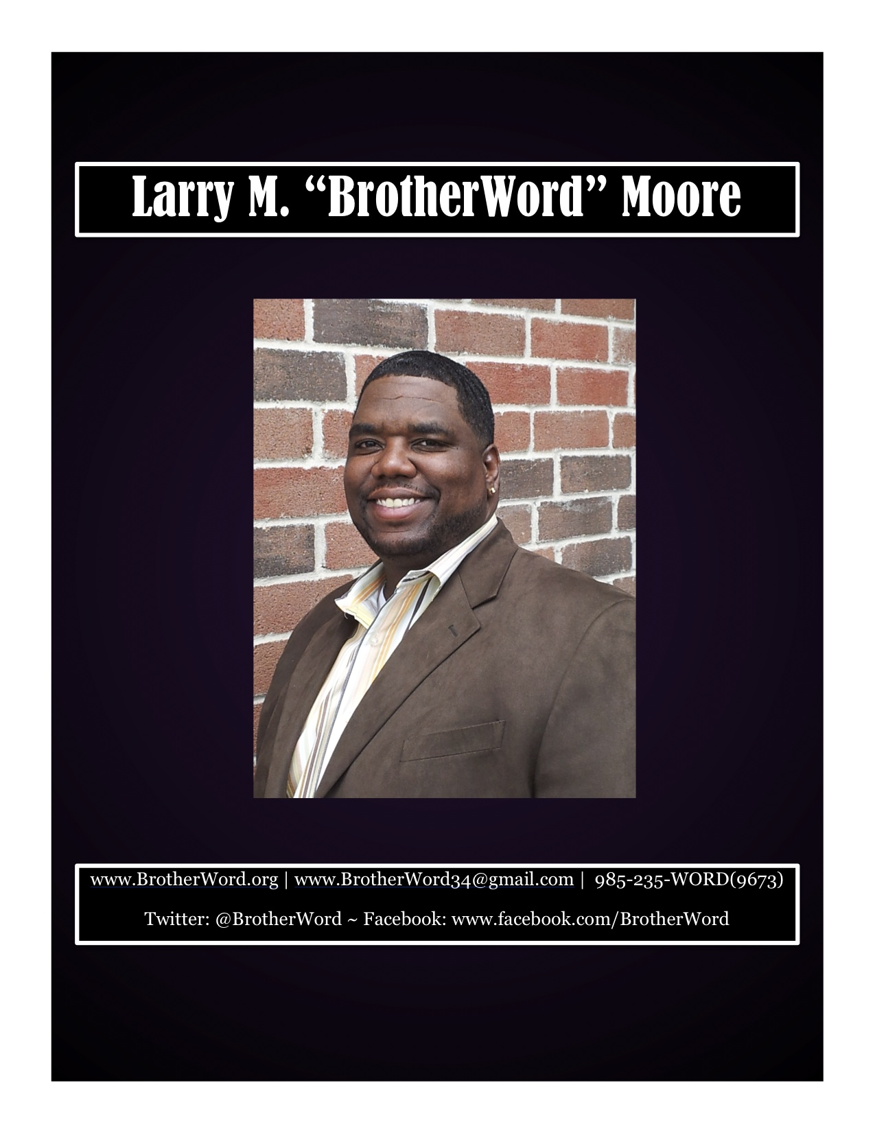 BrotherWord Speaker Packet
